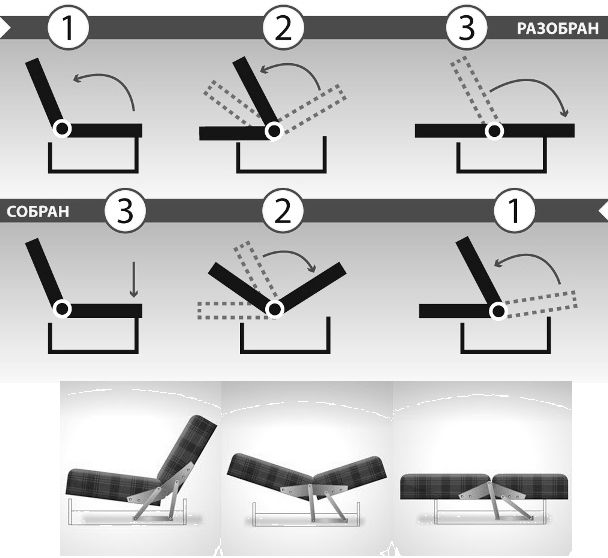 как собрать разобрать диван-книжку